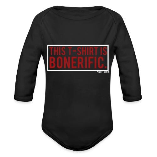BONERIFIC. - Organic Longsleeve Baby Bodysuit