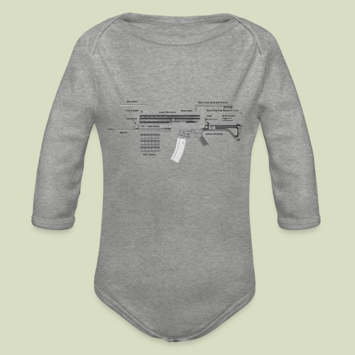Robinson Armament XCR - Vauvan pitkähihainen luomu-body