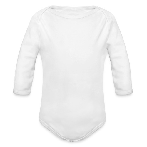 happily disappointed white - Organic Longsleeve Baby Bodysuit