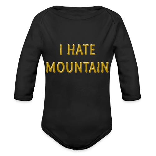 hate mountain - Baby Bio-Langarm-Body