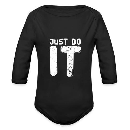 JUST DO IT - Baby Bio-Langarm-Body