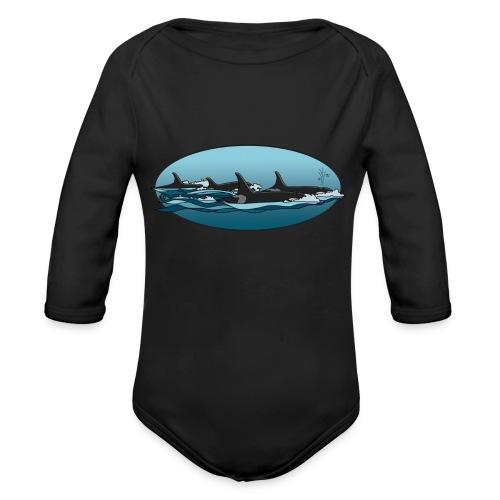 Orca - Baby bio-rompertje met lange mouwen