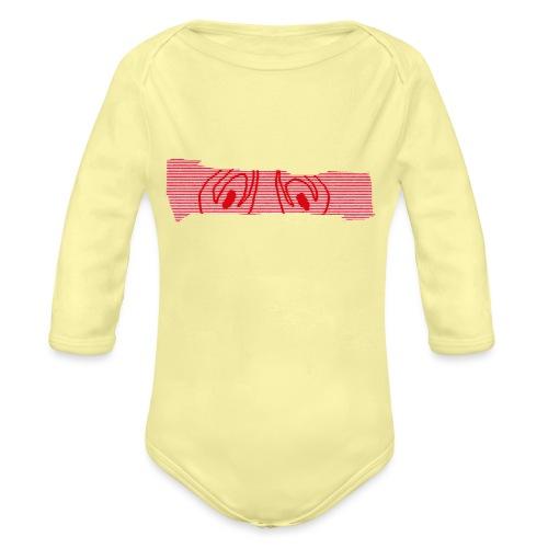 abderyckie linie - Ekologiczne body niemowlęce z długim rękawem