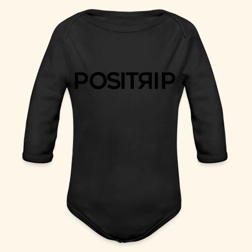 Positrip logo - Body ecologico per neonato a manica lunga