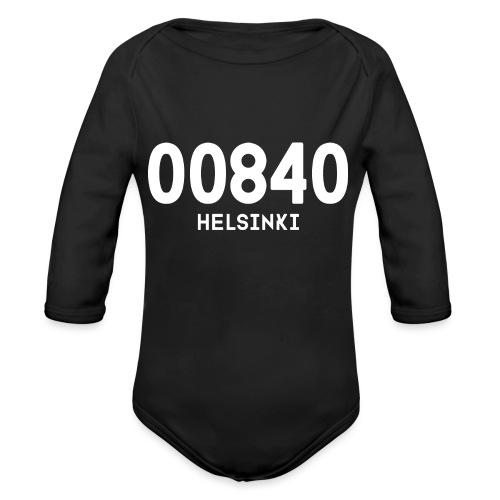 00840 HELSINKI - Vauvan pitkähihainen luomu-body