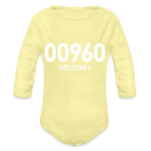 00960 HELSINKI - Vauvan pitkähihainen luomu-body