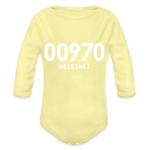 00970 HELSINKI - Vauvan pitkähihainen luomu-body