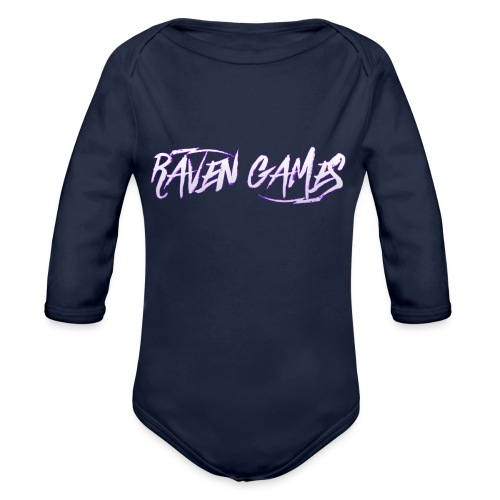 Raven Games Main Logo - Organic Longsleeve Baby Bodysuit