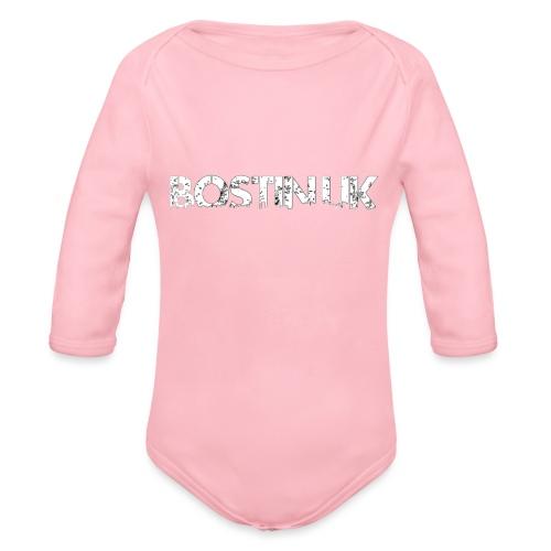 bostin uk white - Organic Longsleeve Baby Bodysuit