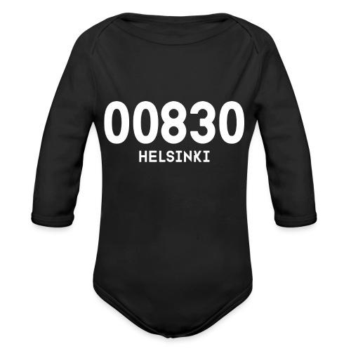 00830 HELSINKI - Vauvan pitkähihainen luomu-body