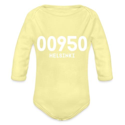 00950 HELSINKI - Vauvan pitkähihainen luomu-body