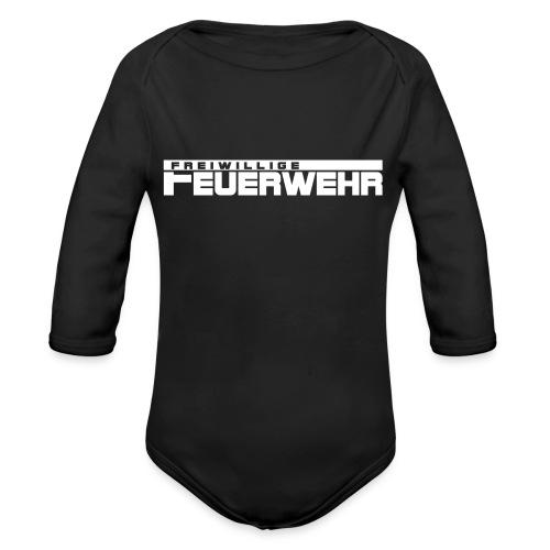 Freiwillige Feuerwehr Schriftzug - Baby Bio-Langarm-Body
