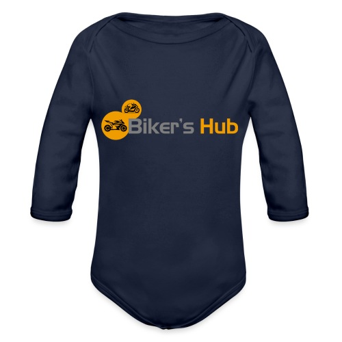 Biker's Hub Small Logo - Organic Longsleeve Baby Bodysuit