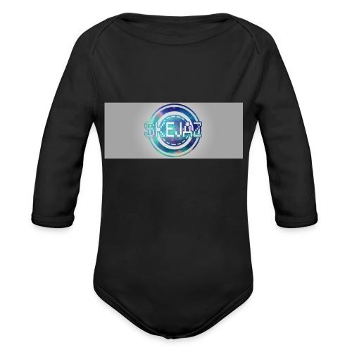 LOGO WITH BACKGROUND - Organic Longsleeve Baby Bodysuit