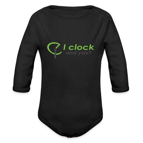 I clock, and you ? - Body ecologico per neonato a manica lunga