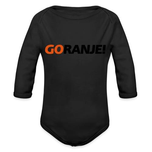 Go Ranje - Goranje - 2 kleuren - Baby bio-rompertje met lange mouwen