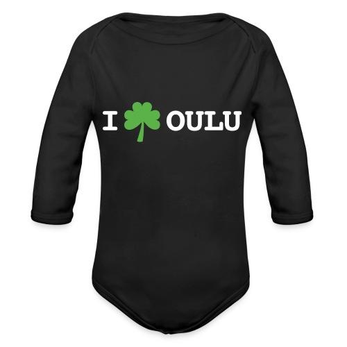 I shamrock Oulu - Classic Model - Vauvan pitkähihainen luomu-body