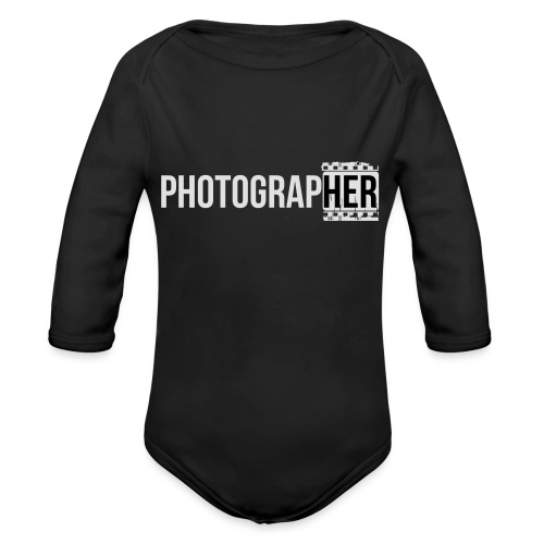 Photographing-her - Organic Longsleeve Baby Bodysuit