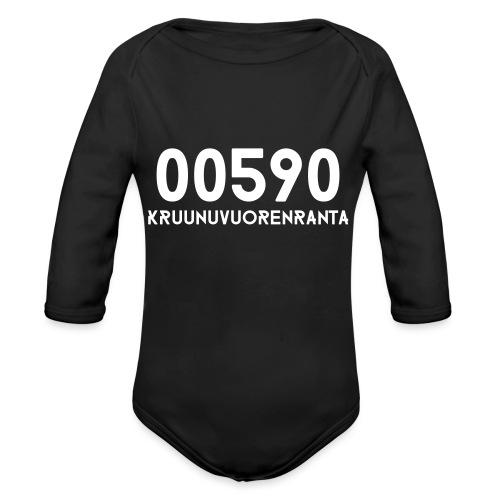 00590 KRUUNUVUORENRANTA - Vauvan pitkähihainen luomu-body