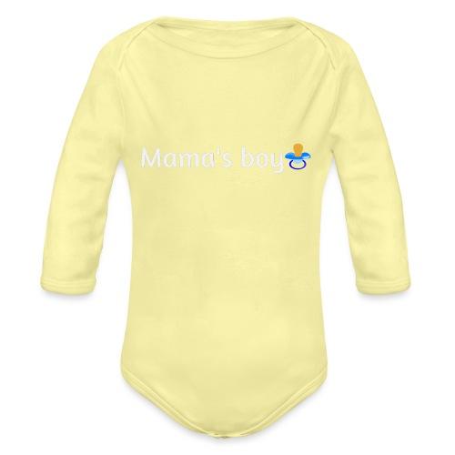 Mama's boy - Organic Longsleeve Baby Bodysuit