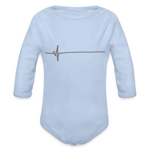 Flatline - Organic Longsleeve Baby Bodysuit