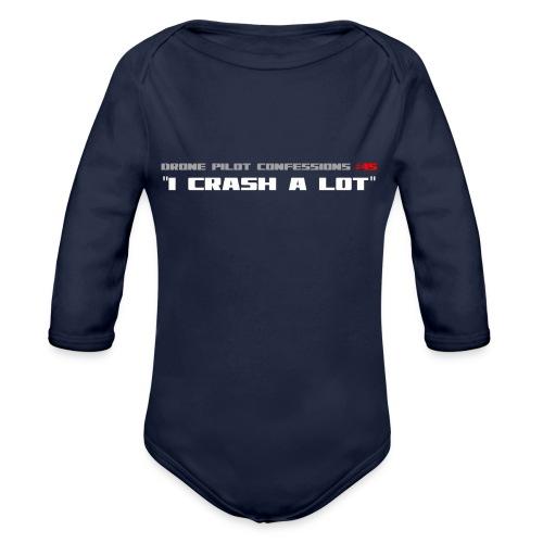 I CRASH A LOT - Organic Longsleeve Baby Bodysuit