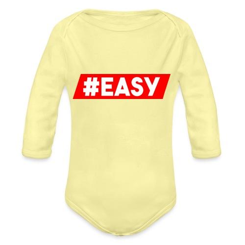 #EASY Classic Logo Snapback - Body ecologico per neonato a manica lunga