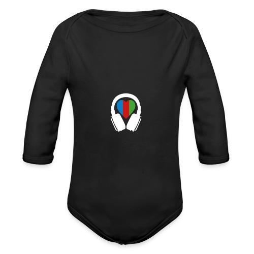 Silent Disco Kopfhörer & Herz RGB - Baby Bio-Langarm-Body