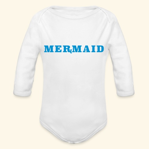 Mermaid logo - Ekologisk långärmad babybody