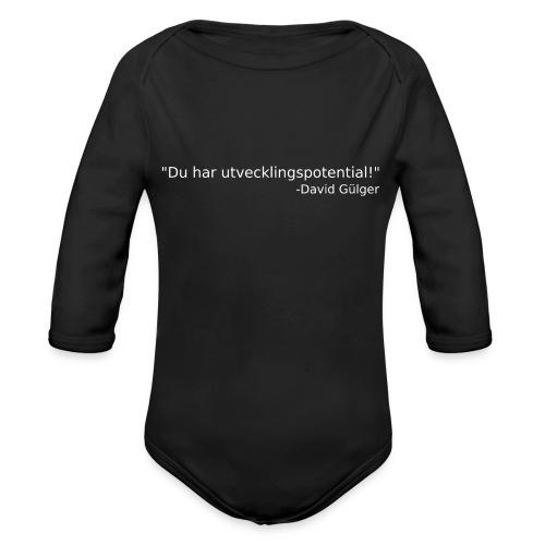 Ju jutsu kai förslag 1 version 1 vit text - Ekologisk långärmad babybody