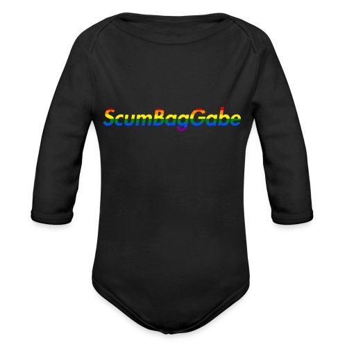 ScumBagGabe Multi Logo XL - Organic Longsleeve Baby Bodysuit