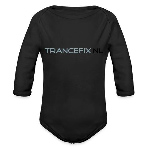 trancefix text - Organic Longsleeve Baby Bodysuit