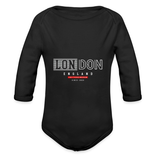 London England United Kingdom - Baby Bio-Langarm-Body