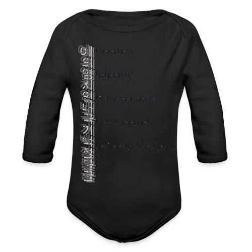 5 Tenets Taekwondo Kid's Hoodie 2 - Organic Longsleeve Baby Bodysuit