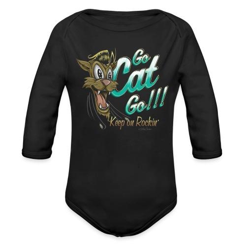 go cat go 2 ok - Body orgánico de manga larga para bebé