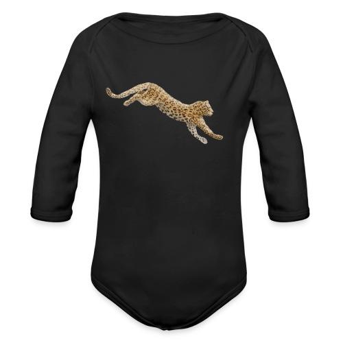 Leopard - Baby Bio-Langarm-Body