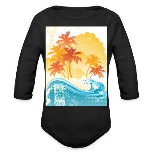 Palm Beach - Organic Longsleeve Baby Bodysuit