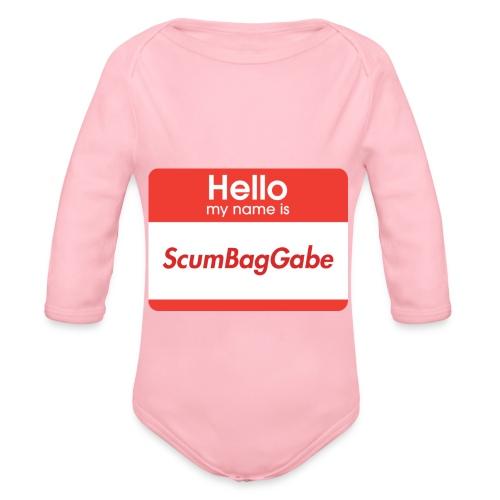 Hello My Name Is ScumBagGabe - Organic Longsleeve Baby Bodysuit