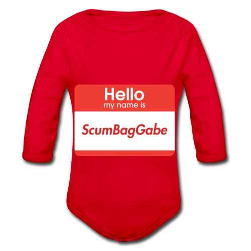 Hello My Name Is ScumBagGabe - Organic Longsleeve Baby Bodysuit