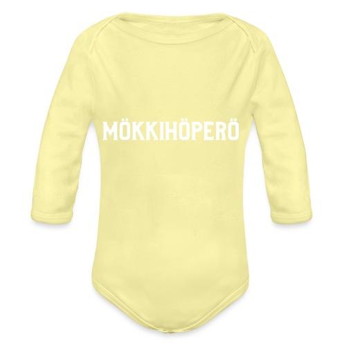 mokkihopero - Vauvan pitkähihainen luomu-body