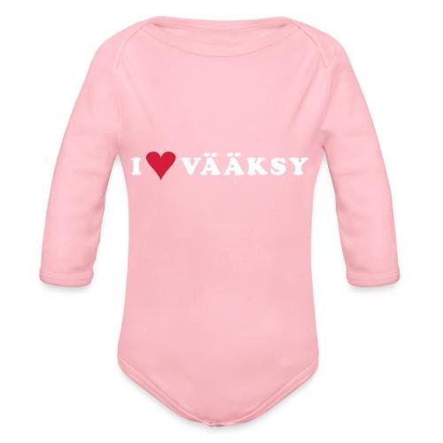 I LOVE VAAKSY - Vauvan pitkähihainen luomu-body