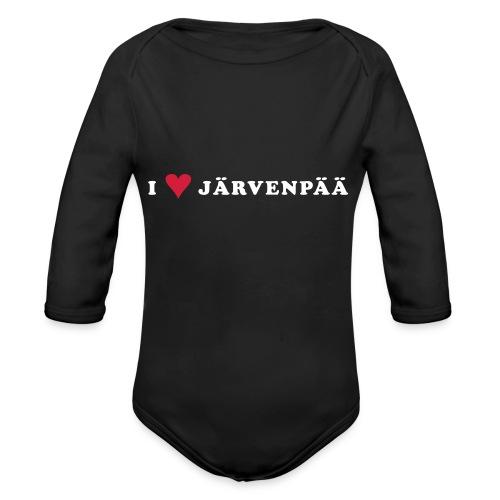 I LOVE JARVENPAA - Vauvan pitkähihainen luomu-body