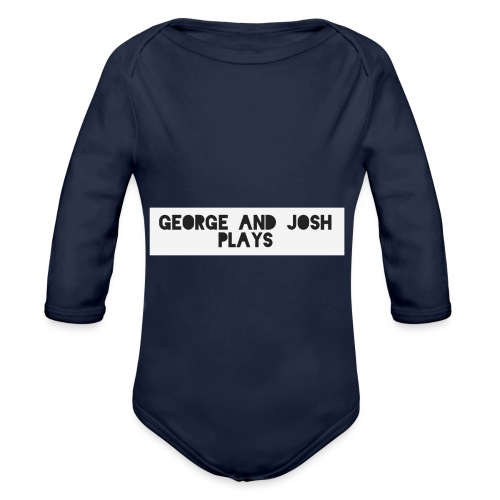George-and-Josh-Plays-Merch - Organic Longsleeve Baby Bodysuit