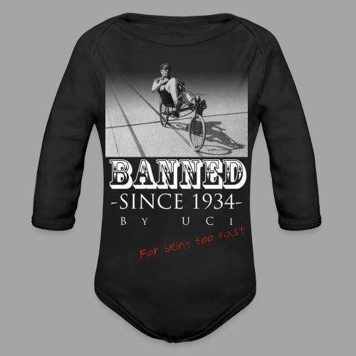 Recumbent Bike Banned since 1934 - Vauvan pitkähihainen luomu-body