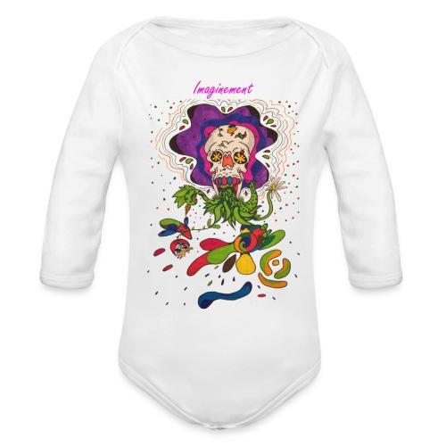 Döskalle - Ekologisk långärmad babybody