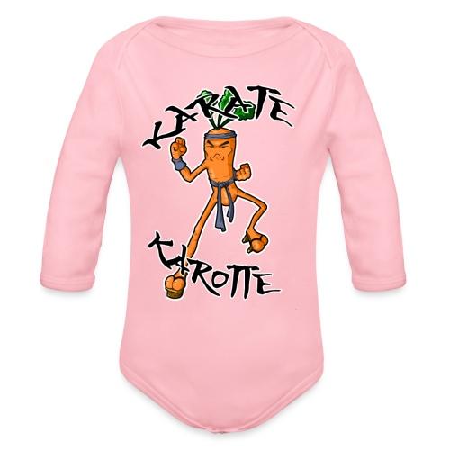 KarateKarotteTexte - Body Bébé bio manches longues