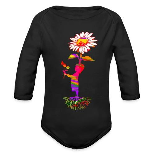 bloemenkind - Baby bio-rompertje met lange mouwen