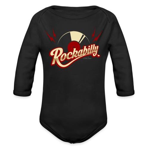 disco rockabilly rojo - Body orgánico de manga larga para bebé