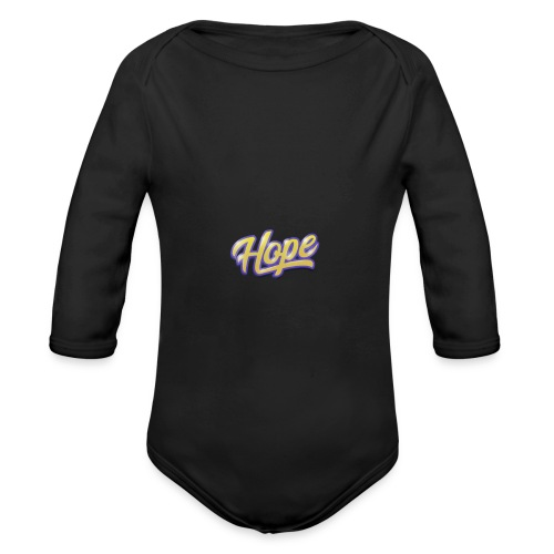 Hope lettering - Body orgánico de manga larga para bebé