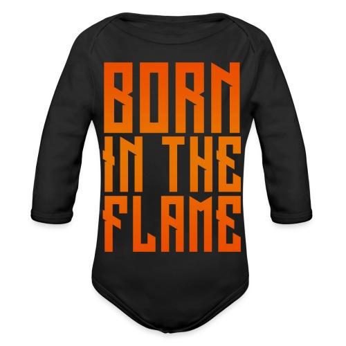 maglietta_born_in_the_flame - Body ecologico per neonato a manica lunga